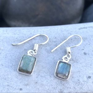 SUNDANCE labradorite earrings STERLING SILVER gem